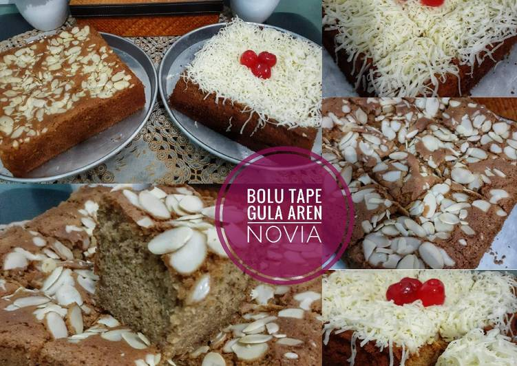 Bolu Tape gula aren with almond n cheese
