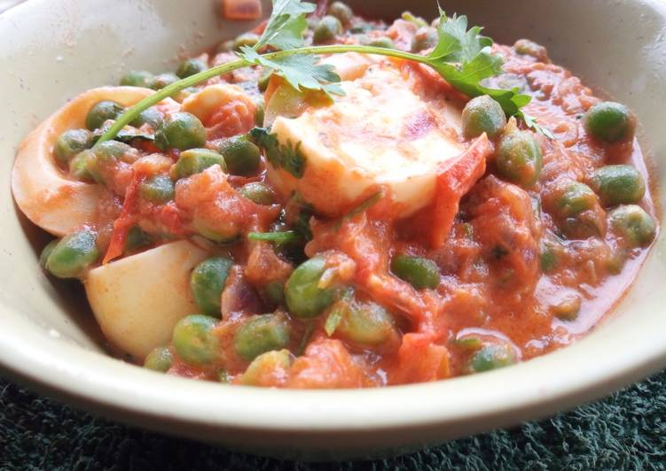 Egg curry with peas Deciding on Healthy Fast Food