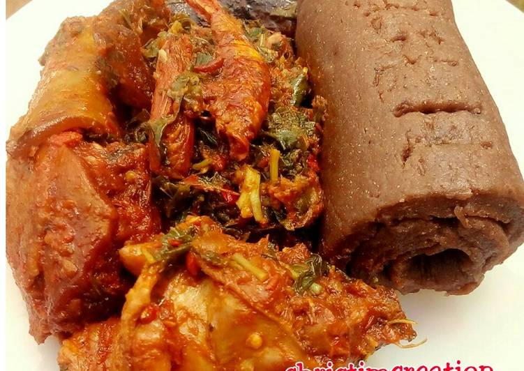 Top 100 Dinner Ideas Winter Chicken with Amala and Efo riro