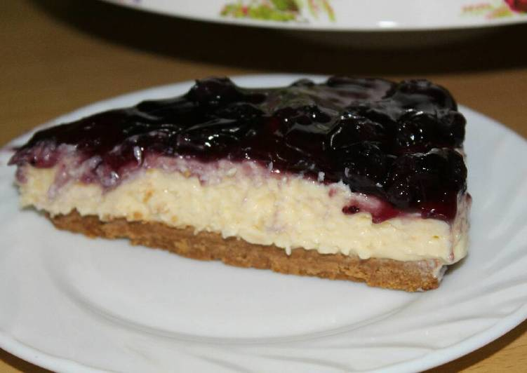 Easiest Way to Make Any-night-of-the-week Blueberry cheese Cake no bake