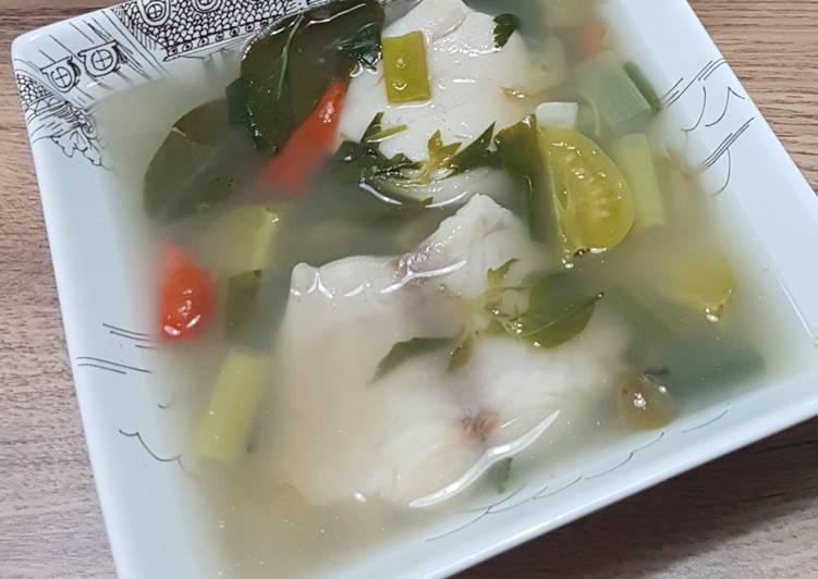 Sop Ikan Kakap #nooilcooking