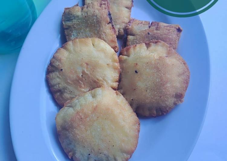 59. Roti Goreng Pisang Keju Coklat (roti tawar)