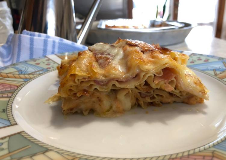 How to Make Perfect Pumpkin lasagna Provola and speck