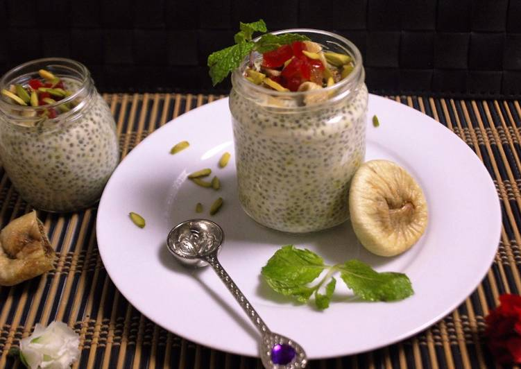 Recipe of Speedy Healthy Chia & Fig Pudding