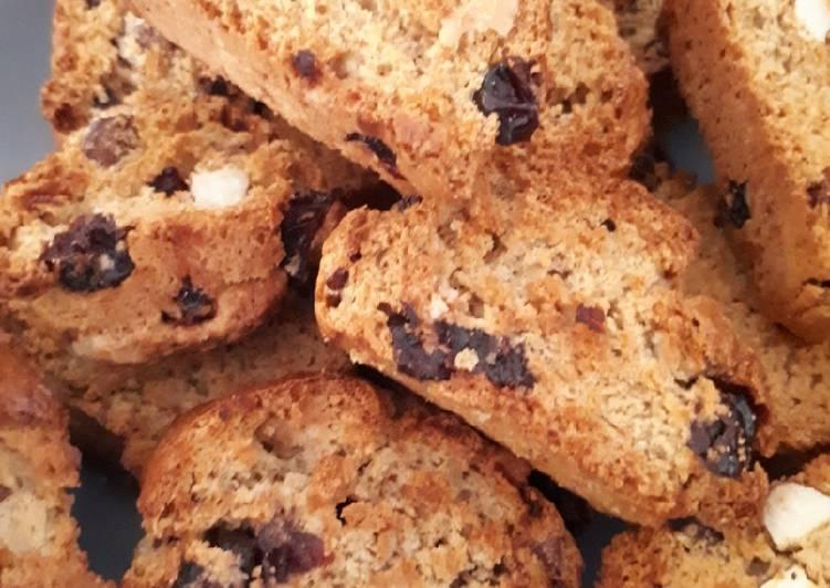 Biscuits secs cranberrys/amandes