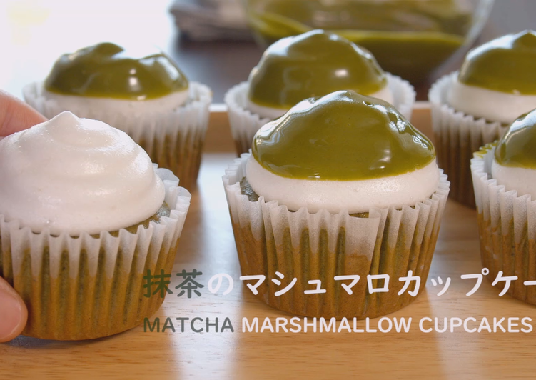 Matcha Marshmallow Cupcakes ★  Recipe Video★