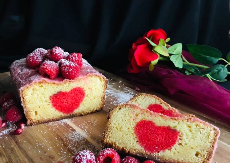 Top 10 Dinner Easy Speedy Hidden heart raspberry cake
