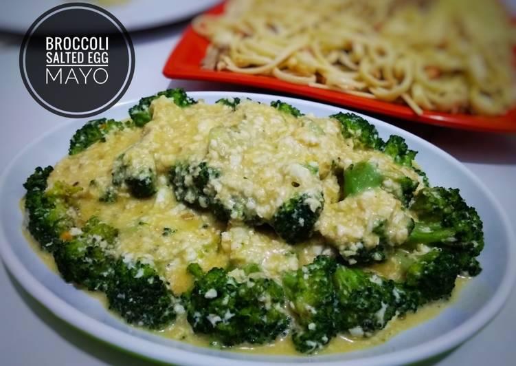 Cah brokoli telur asin mayo
