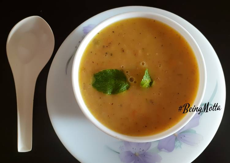 Simple Way to Prepare Homemade Minty Lentil Soup