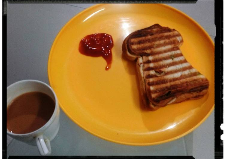 Easiest Way to Prepare Favorite Mint  & sweet Chilli sauce grill sandwich