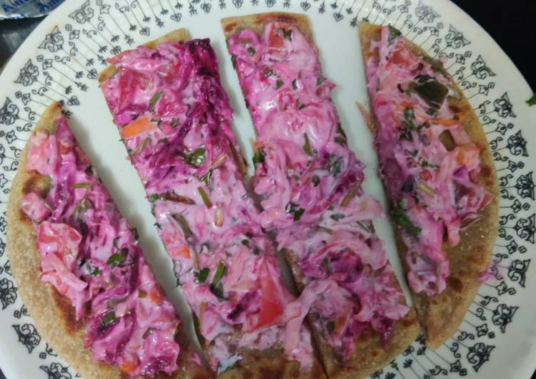 Purple roti pizza