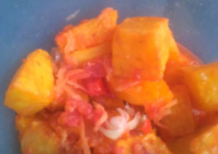 African Dish Mashed African Bajia with fresh kachumbari
