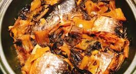 Hình ảnh món Cá đối kho dưa cải