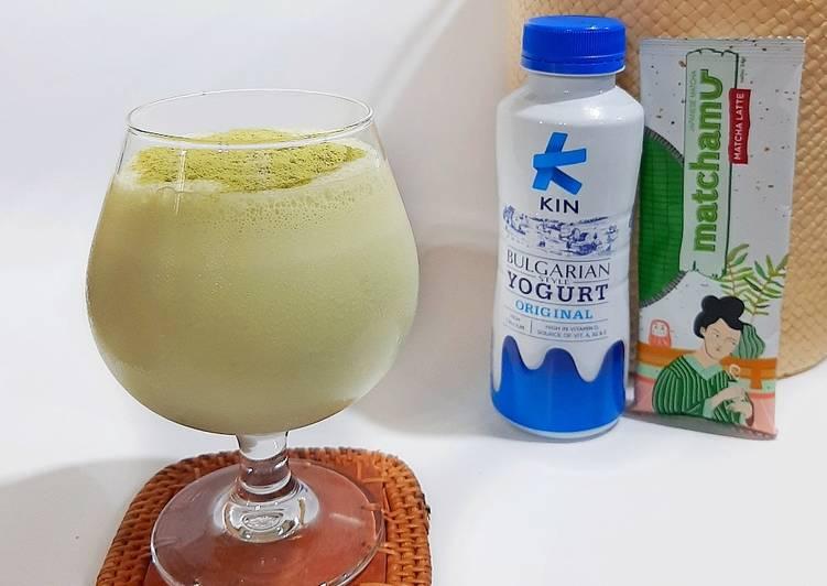 Matcha Yoghurt Blended (2 bahan)