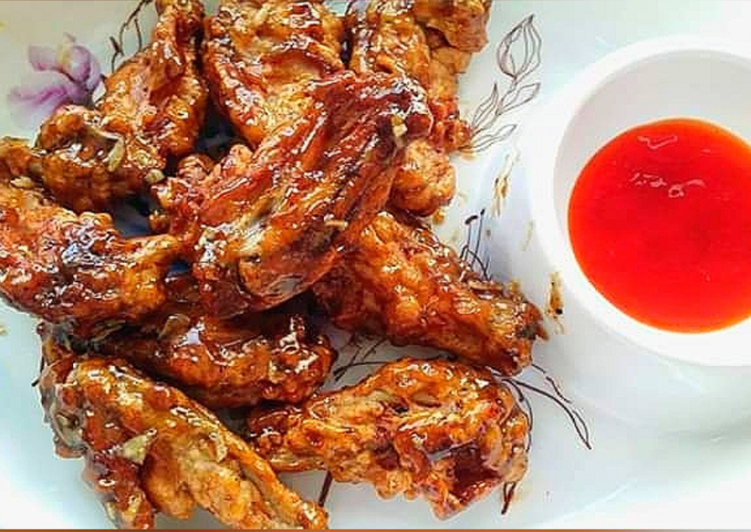Steps to Prepare Favorite Honey Glazed Chicken Wings