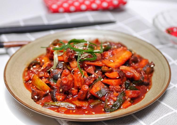 Nakji Bokkeum - Korean Spicy Octopus