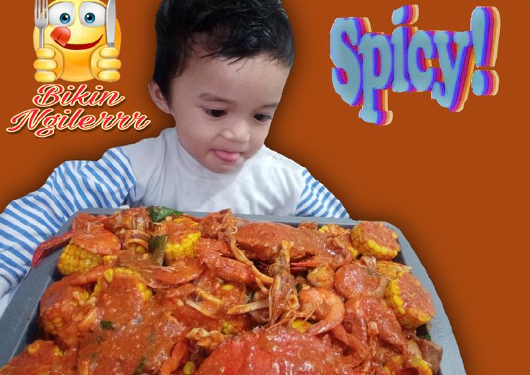 Resep Seafood saos Padang Super Pedas