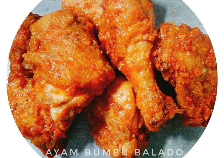 Ayam bumbu balado simple