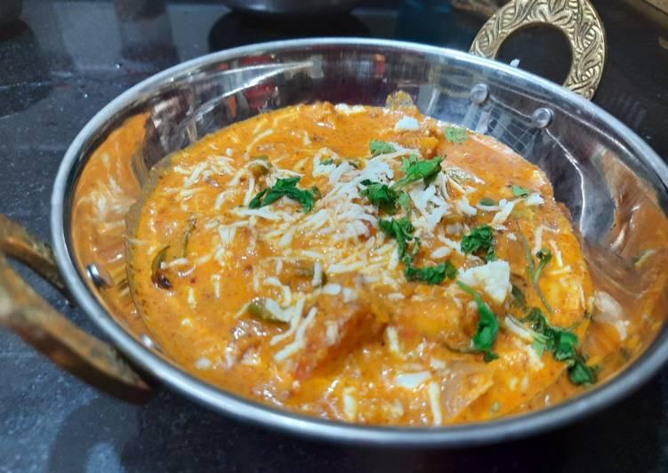 Recipe of Homemade Kadhai paneer