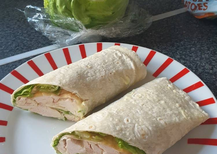 Easiest Way to Prepare Super Quick Homemade Lazy Roast Chicken Wrap
