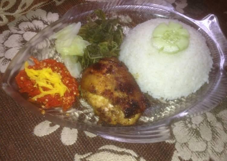 Ayam bakar madu sambal mangga