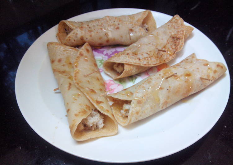 Easiest Way to Prepare Ultimate Patishaptha-A divine pancake with rich creamy nutty filling..Easy!