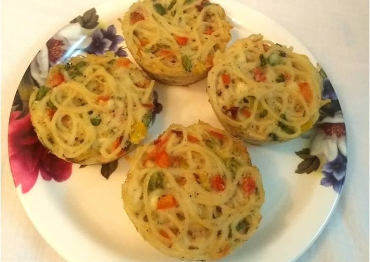 Recipe of Top-Rated Spaghetti🍝 muffins