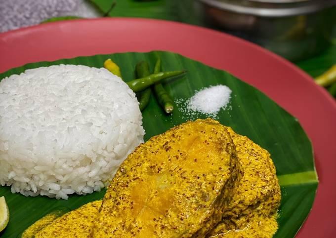 Steamed Rohu / Bhapa Rui