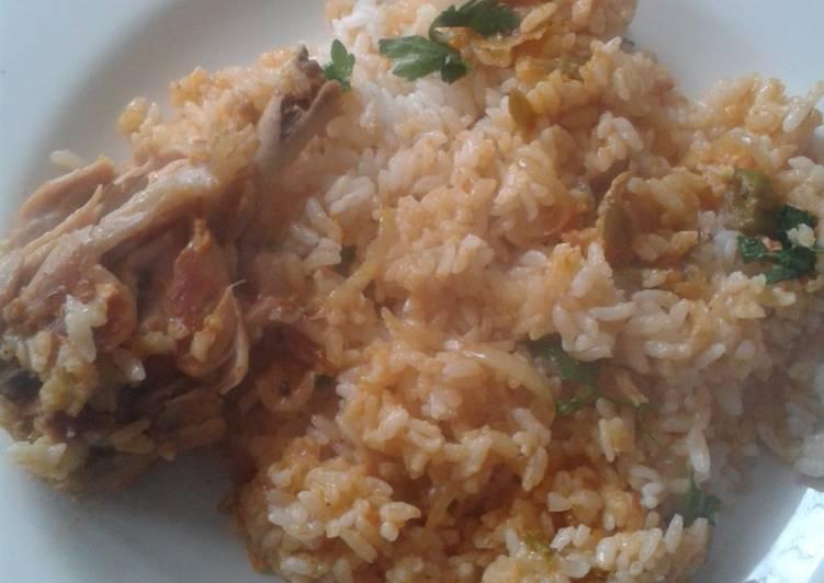Nasi ayam briyani rumahan