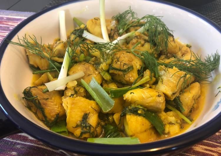 Vietnamese Turmeric & Dill Fish 'Cha ca'