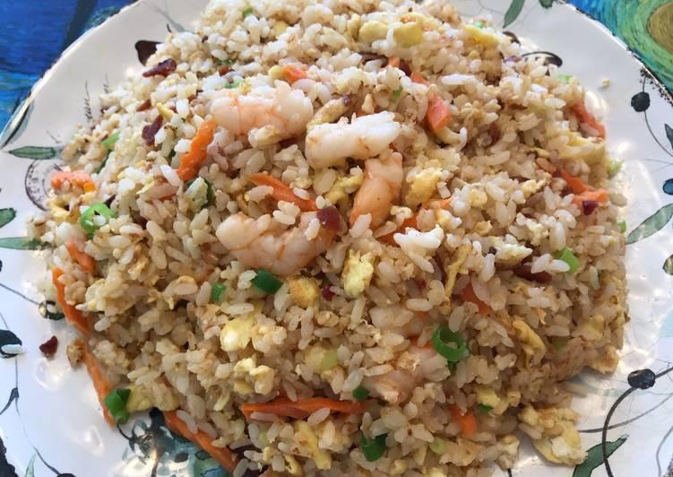 Recipe: Yummy Bacon & Shrimp Fried Rice