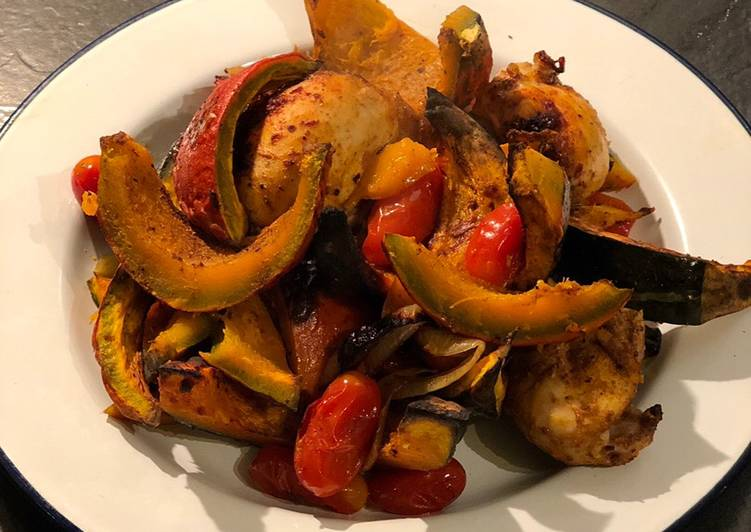 Recipe: Perfect 3 step autumn roast pumpkin and chicken 🍂