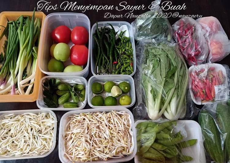 Tips Menyimpan Sayur & Buah