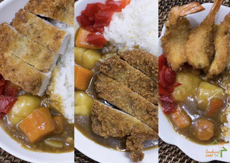 Recipe of Award-winning Japanese Katsu Curry - Chicken, Pork & Shrimp