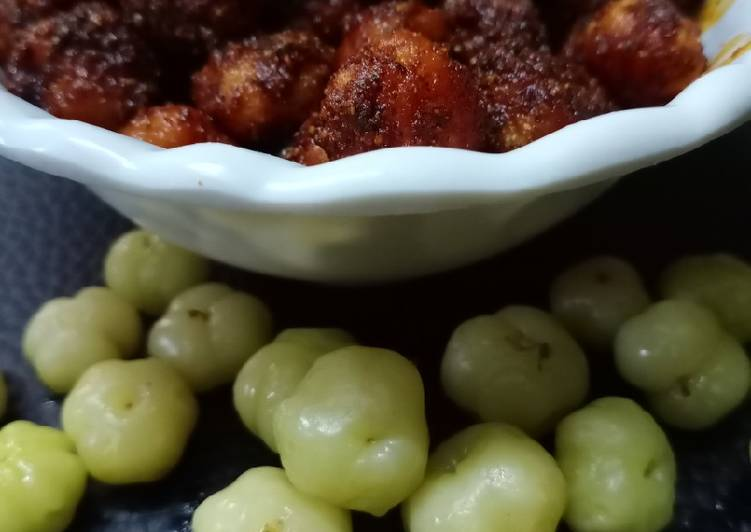 Steps to Make Super Quick Homemade Indian gooseberry pickle Nellikaai Oorugaai