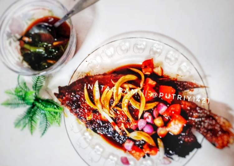 Ikan bakar gurami sambel kecap