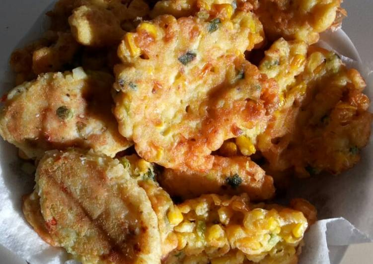 Healthy Recipe: Tasty Corn Fritter (Perkedel Jagung) *Vegetarian, Vegan