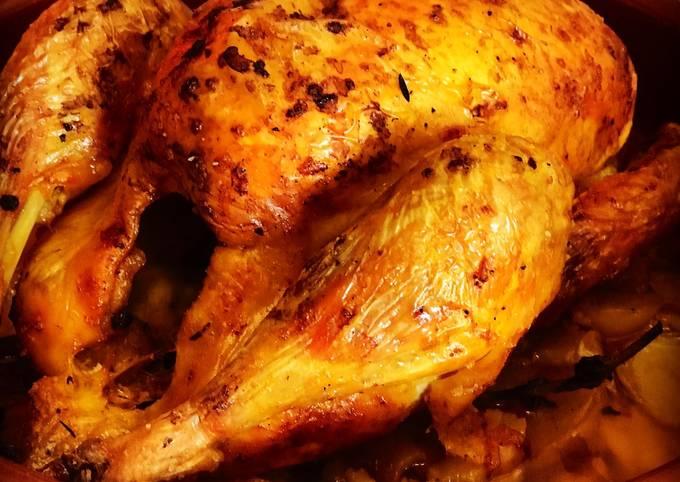 Pollo De Corral Al Horno Con Hierbas Aromáticas Y Achiote Receta De Cocina Con Barbara Cookpad