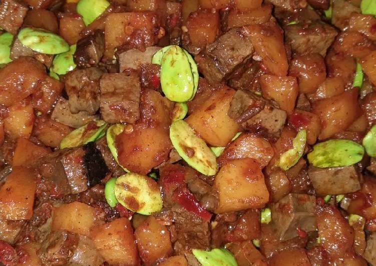 Sambal goreng hati sapi featuring indofood