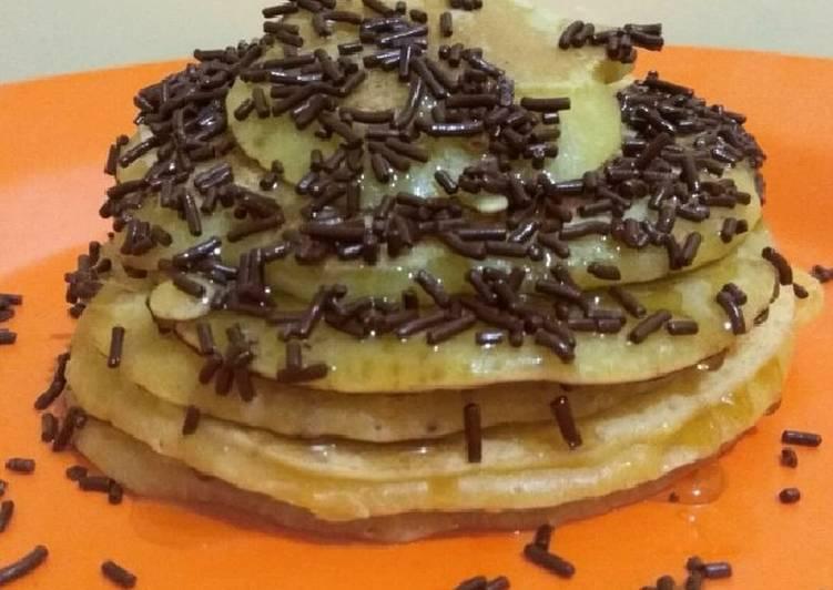 Resep Pancake teflon simple Bikin Jadi Laper