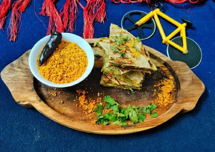 Recipe of Speedy Vada Pav Quesadilla