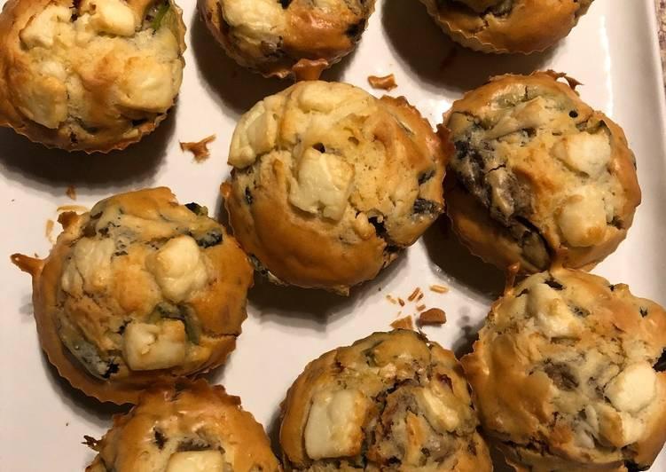 Cupcakes salés, ratatouille et feta