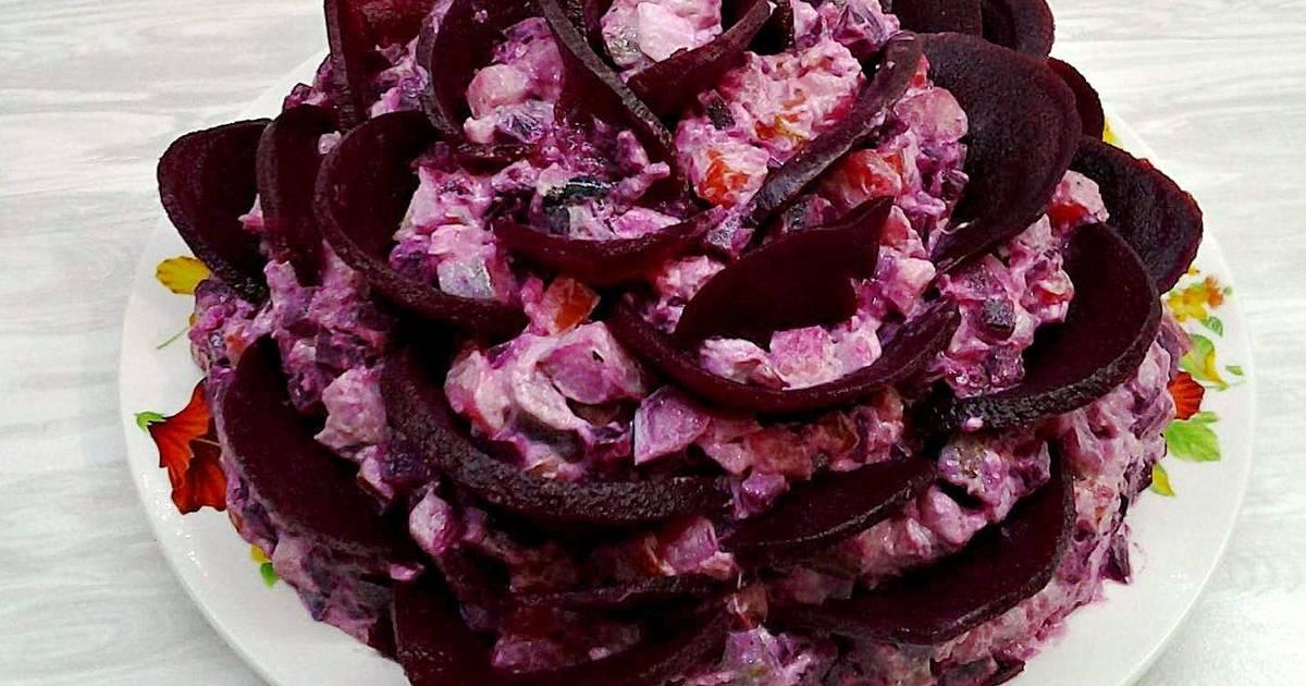 ищете рецепт с фото салат розы из сельди состоит миниатюрных
