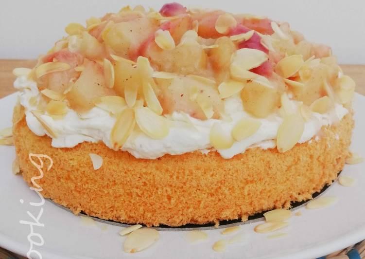 Recette Appétissante Gâteau aux pêches