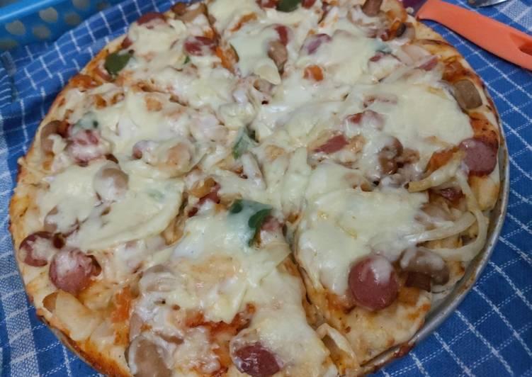 Pizza Jamur Sosis