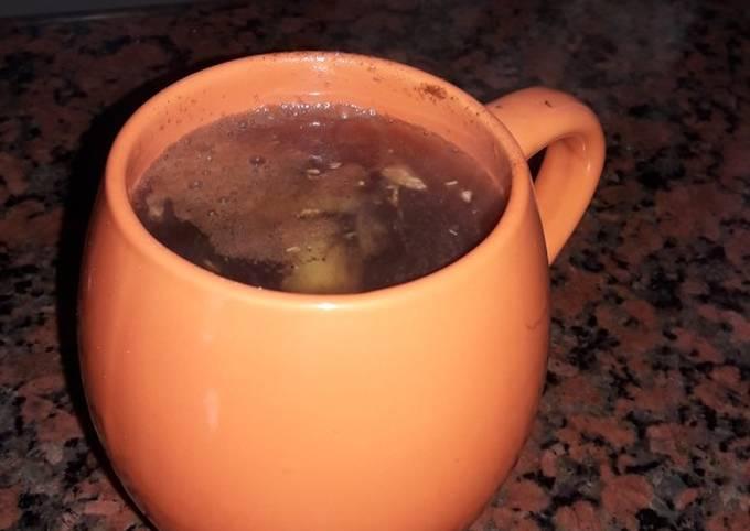 Ginger green tea fat burn aid drink