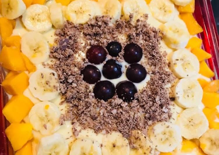 Mango 🥭 custard trifle 🍨