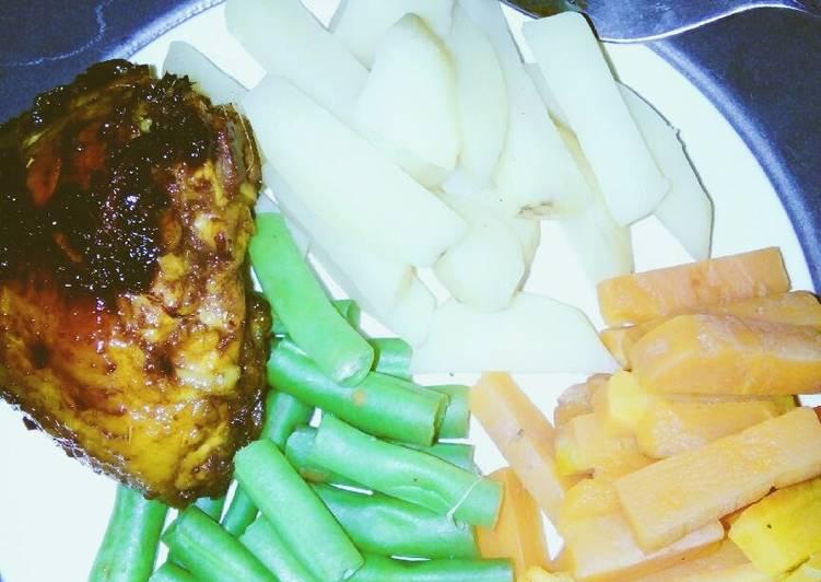 Cara Membuat Menu diet yummy with grilled chicken💕 yang Bikin Ngiler!