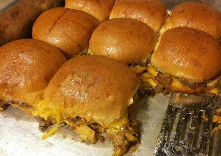 Easiest Way to Prepare Favorite Baked Taco Burger Sliders