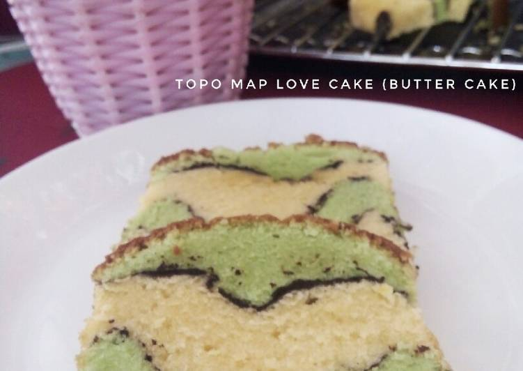 TOPO MAP LOVE CAKE (Butter Cake) #17
